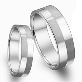 TITANIUM RING Cincin Couple Size 6(F) & 9(M) [GS291] - White - Cincin